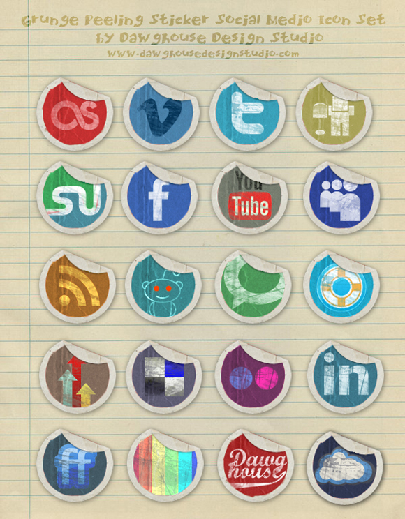 15 Free Social Media Icon Packs - Freebies 45