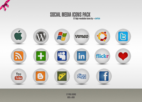 15 Free Social Media Icon Packs - Freebies 44