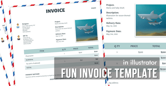 Fun Invoice Template - Vector Tutorial