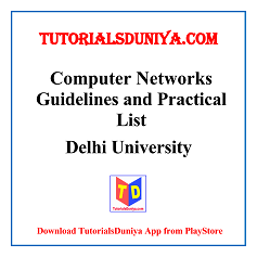 Computer Networks Guidelines and Programs List PDF
