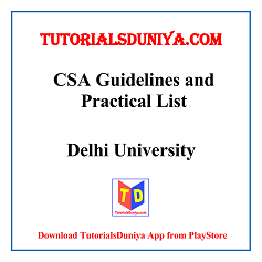 CSA Guidelines and Programs List PDF