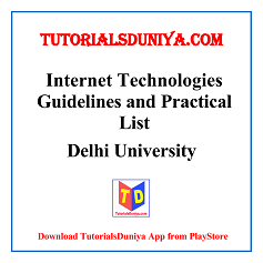 Internet Technologies Guidelines and Programs List PDF