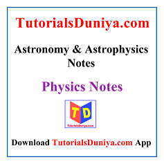 Astronomy and Astrophysics Handwritten Notes PDF