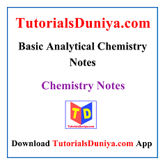Basic Analytical Chemistry Notes PDF