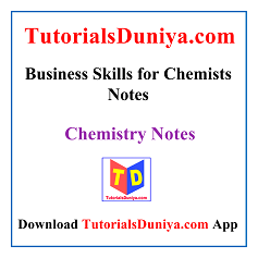 Business Skills for Chemists Notes PDF