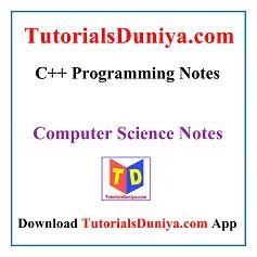 C++ Programming Notes PDF