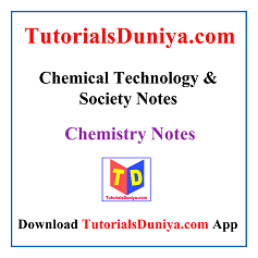 Chemical Technology & Society Notes PDF