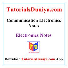 Communication Electronics Handwritten Notes PDF