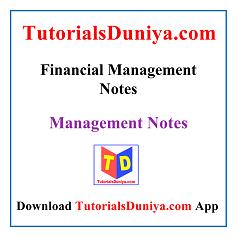 Financial Management Notes PDF