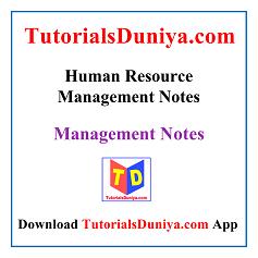 Human Resource Management Notes PDF