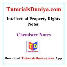 Intellectual Property Rights Notes PDF