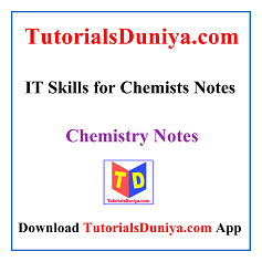 IT Skills for Chemists Notes PDF