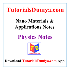 Nano Materials and Applications Notes PDF