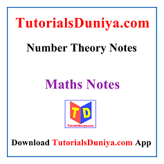 Number Theory Notes PDF