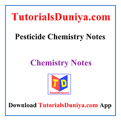 Pesticide Chemistry Notes PDF
