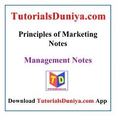 Principles of Marketing Notes PDF
