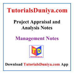Project Appraisal and Analysis Notes PDF