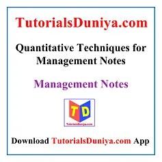Quantitative Techniques for Management Notes PDF