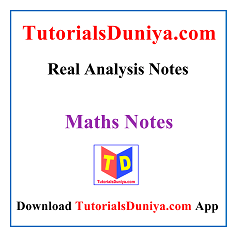 Real Analysis Notes PDF