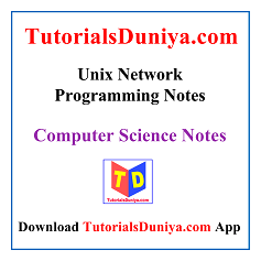 Unix Network Programming Notes PDF