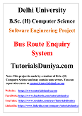 Bus Route Enquiry System Software Engineering Project PDF