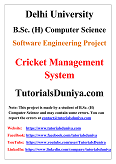 Cricket Management System Software Engineering Project PDF