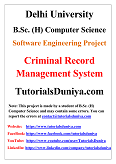 Criminal Record Management System Software Engineering Project PDF