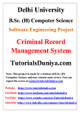 Criminal Record Management System 2 Software Engineering Project PDF