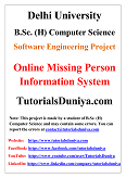 Online Missing Person Information System Software Engineering Project PDF