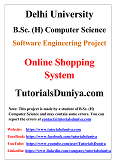 Online Shopping System Software Engineering Project PDF