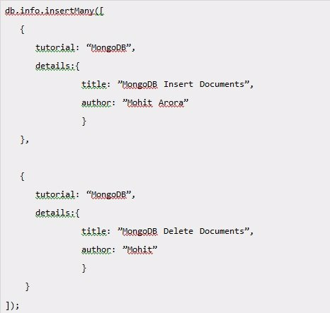 MongoDB Insert Documents 3