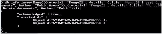 MongoDB Insert Documents 4