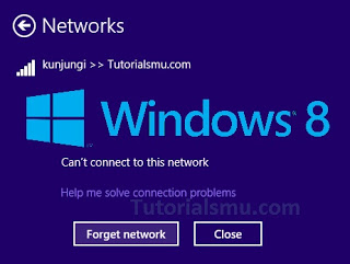 Merubah Password Wifi Tersimpan di Windows 8