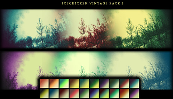 Vintage Gradients by Icechicken Awesome collection of Layer Styles for Photoshop