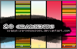 gradients 02 by crazykira resources Awesome collection of Layer Styles for Photoshop