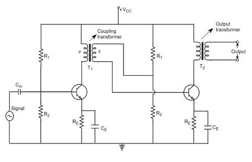 transformer coupled amplifier circuit amplifiercircuit circuit