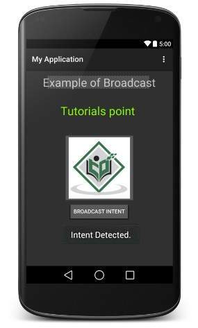 Android Broadcast Intent