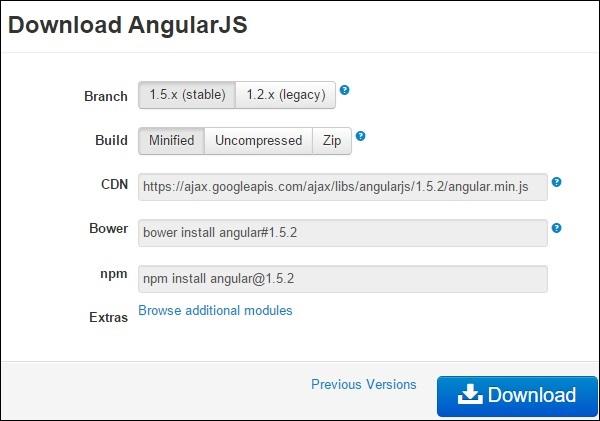 AngularJS Download