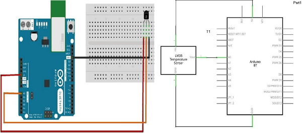 arduino  temperature sensor  tutorialspoint