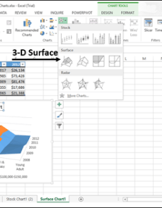 You can use   surface chart also excel charts rh tutorialspoint