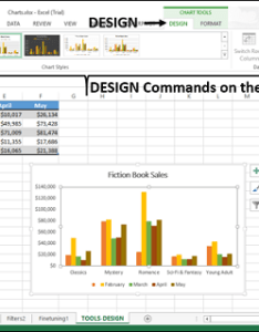 Step click the design tab on ribbon changes to commands also excel charts tools rh tutorialspoint