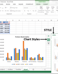 Point to any of the options see preview your chart with currently selected style also excel charts styles rh tutorialspoint