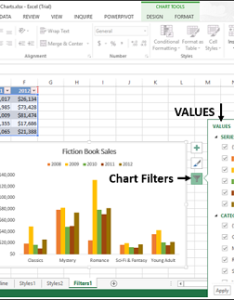 Values and names also excel charts chart filters rh tutorialspoint