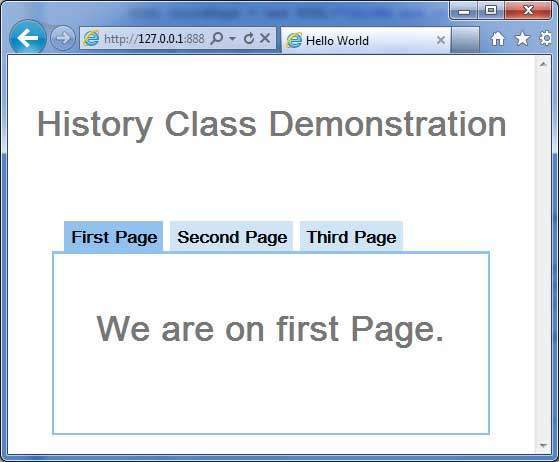 GWT History Demo