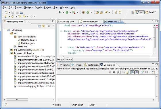 Beans Configuration File