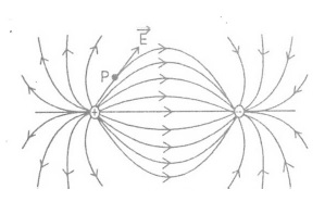 Electric Field Lines Shape for Pair of Charges