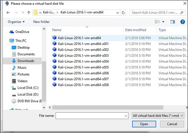 Fichier disque dur