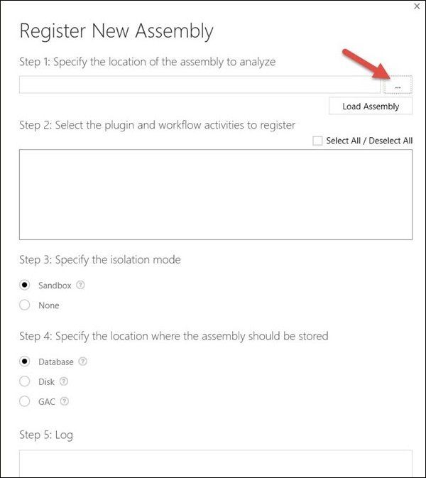 Microsoft Dynamics CRM Plugin Registration