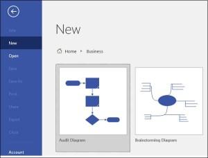 Microsoft Visio Structure of Brainstorming Diagrams