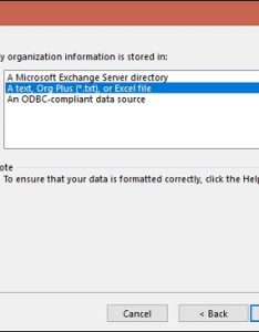 It could be  location on microsoft exchange server local text csv or excel file an odbc compliant data source select the second option and click also visio using org chart wizard rh tutorialspoint